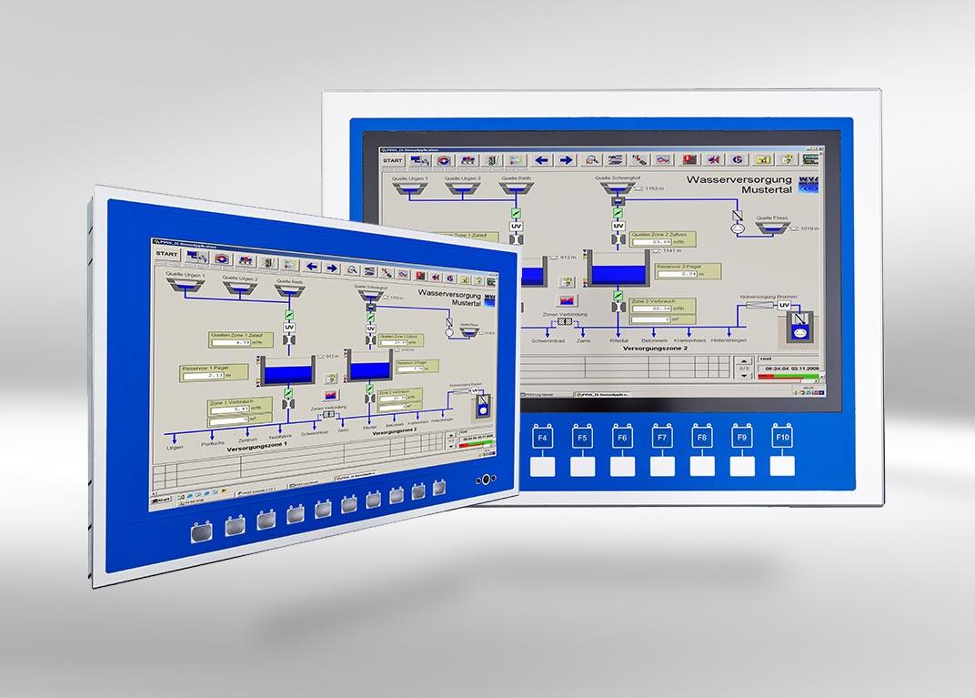 PICOS kundenspezifische Lösungen: Monitore und PCs mit und ohne touch auch für extreme Umgebungen