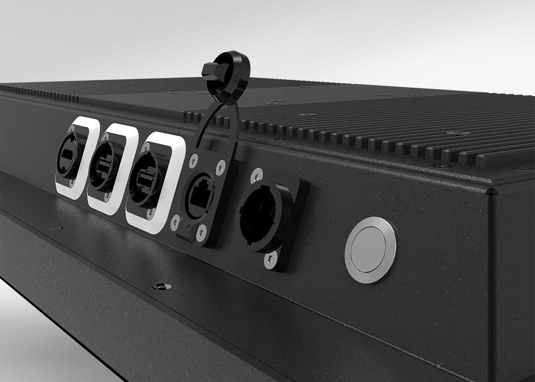 Industrie-PC mit Touchscreen: Anschlüsse