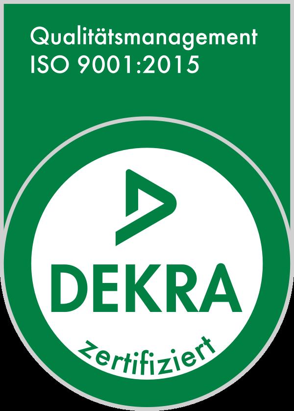 ISO 9001:2015 DEKRA zertifiziert
