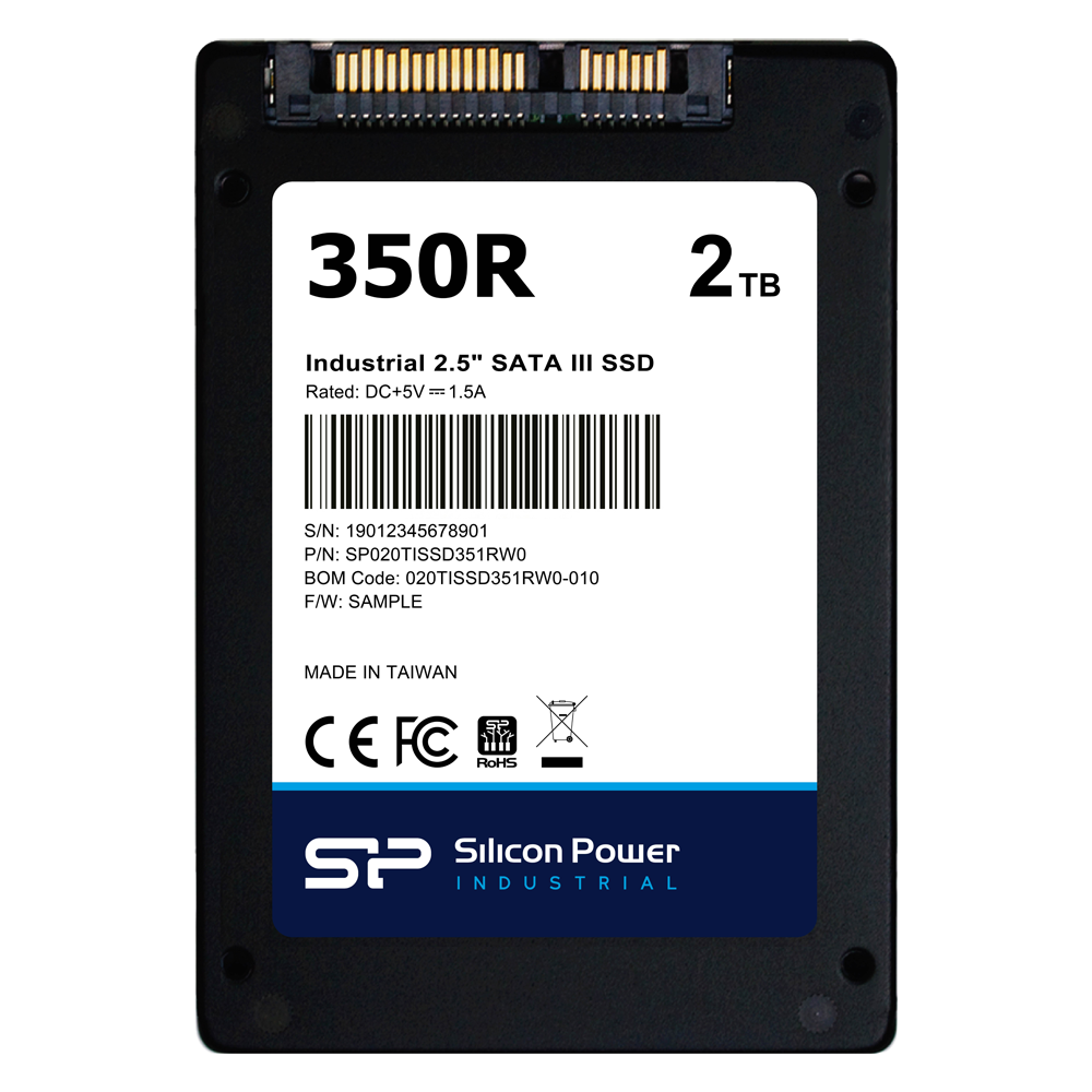 "Silicon Power Industrial 2.5"" SATA SSD 350R"