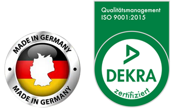 Logo Made in Germany & ISO 9001_2015