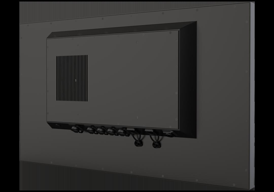 IP65 Industrie-PC mit Touch TLSP Black-Line (Rückseite)