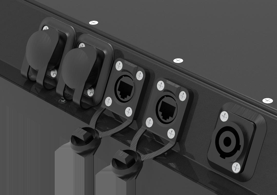 IP65 IPC mit Touch Black-Line (Detail Anschlüsse)