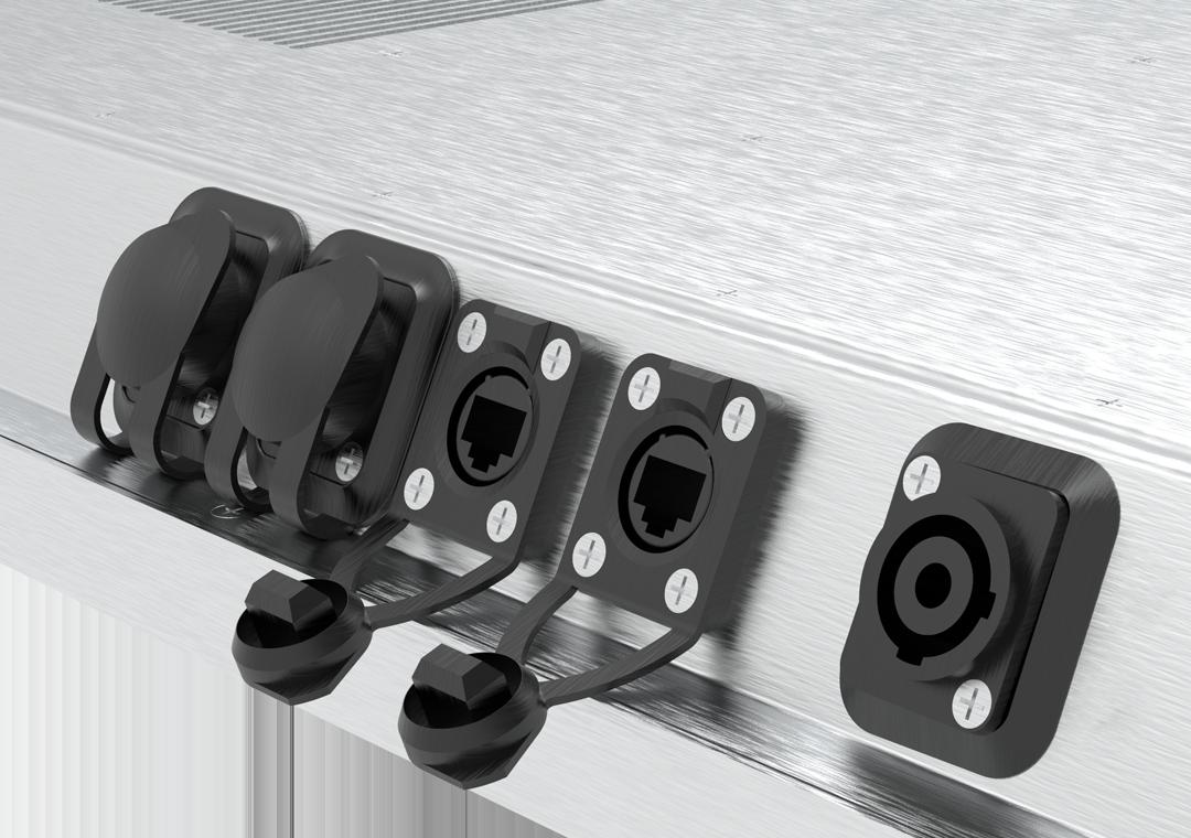 IP65 Industrie-PC mit Touch Steel-Line (Detail Anschlüsse)