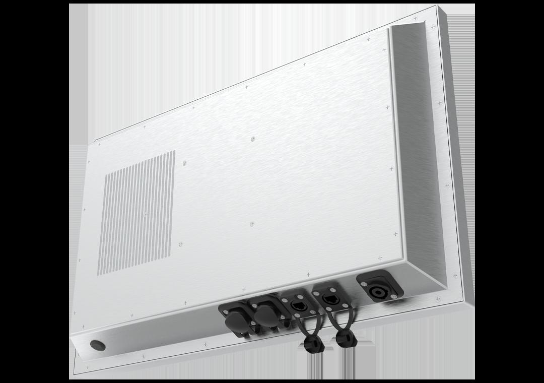 IP65 Industrie-PC mit Touchscreen Steel-Line (Rückseite)
