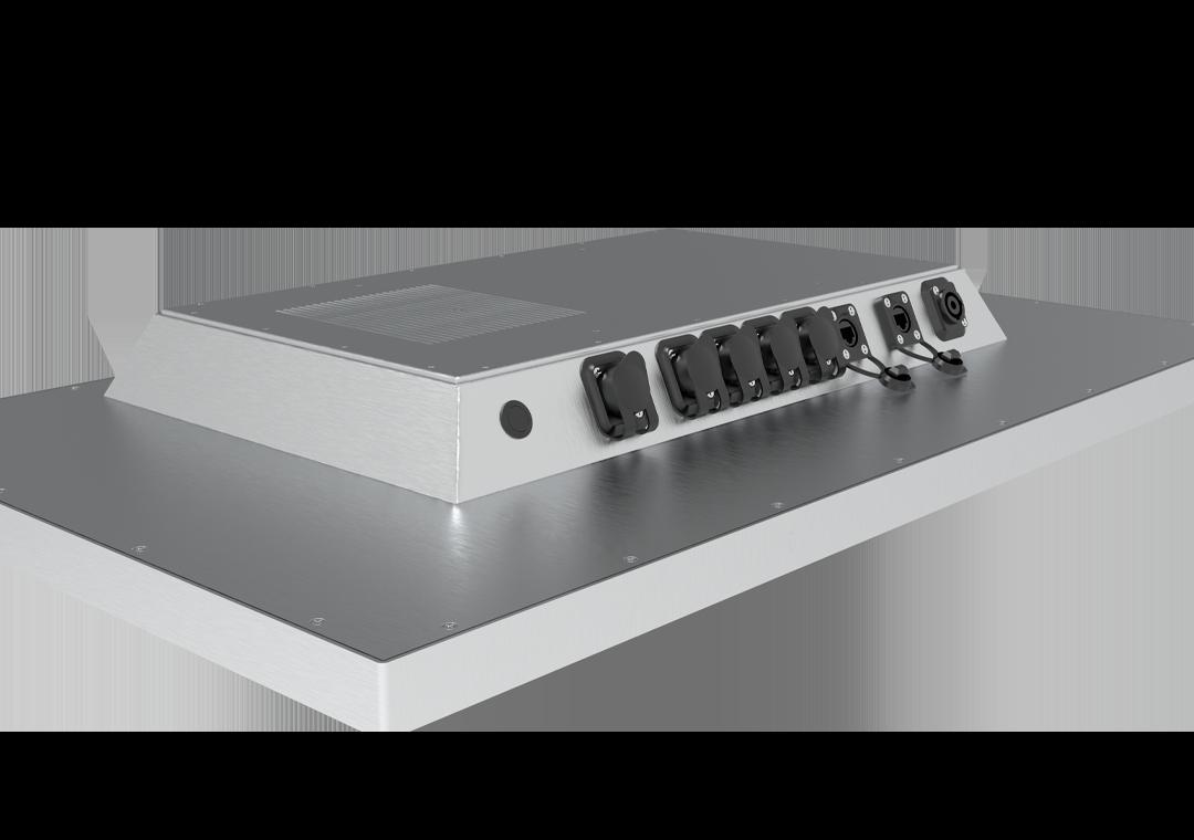 IP65 IPC mit Touch TLSP Steel-Line (Rückseite Anschlüsse)