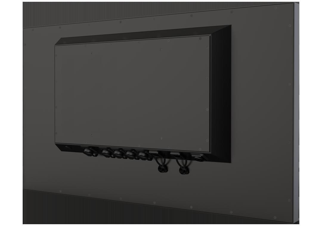 IP65 Industrie-Monitore mit Touchscreen TLSM-320B (Rückseite)