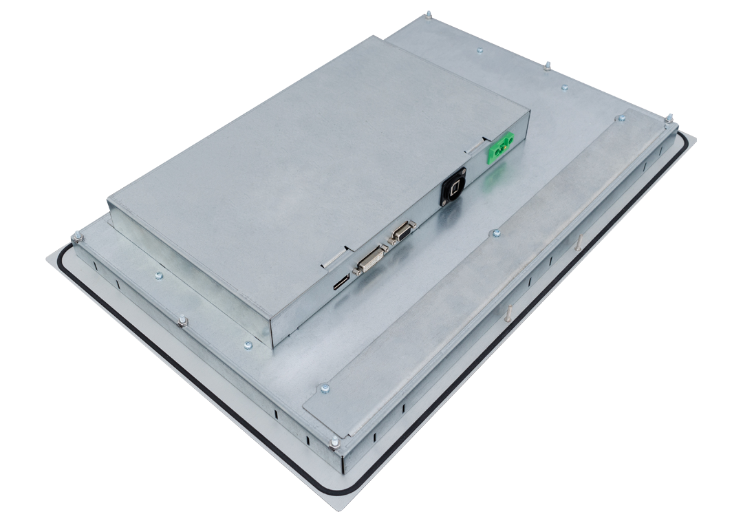 SCM-xxx Einbau-Industrie-Monitor Rückseite seitlich